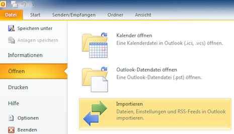 Vcf Mit Mehreren Adressen In Outlook 2010 Importieren I